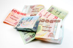 Close up of thai money Royalty Free Stock Photography