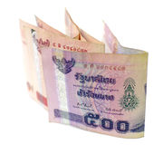 Close up of thai money isolate Stock Photo