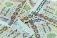 Close up Thai money in one thousand type banknotes Stock Photography