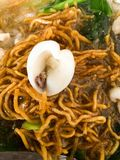 Thai Noodles topped with pork Royalty Free Stock Images