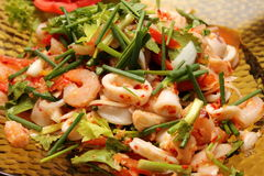 Close up of Thai spicy seafood salad Stock Photo