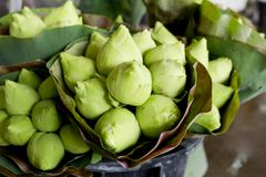 Close up of Thai style lotus on stand Thailand Royalty Free Stock Photo