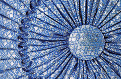 Close up Thai textile on pillow. Close up Thai textile on blue pillow Stock Images