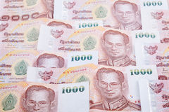 Close up of thailand currency royalty free stock photos