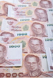 Close up of thailand currency. royalty free stock photography