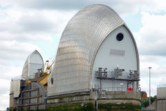 Close-up of the Thames Barrier. Portraying power and protection Royalty Free Stock Photography