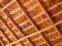 Thatched Roof. Detail of thatched roof of bamboo and straw Royalty Free Stock Photos