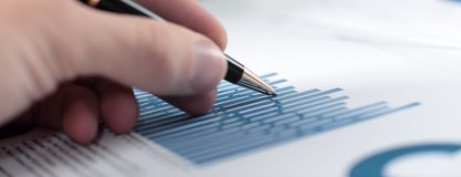 Free Close Up.the Businessman Checks The Financial Report Stock Photo - 139058140