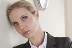 Close-up of a thoughtful businesswoman Royalty Free Stock Image