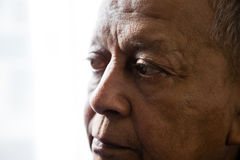 Close up of thoughtful man looking away Royalty Free Stock Image
