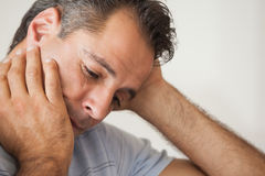 Close-up of a thoughtful man Royalty Free Stock Image