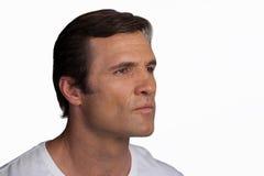 Close up of thoughtful mature man Stock Photos