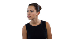 Close up of thoughtful young businesswoman looking away Stock Photography