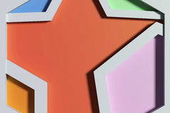 Close-up of three-dimensional colorful angles. 3d redering of close-up of three-dimensional colorful angles Royalty Free Stock Image