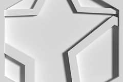 Close-up of three-dimensional white angles Stock Photos