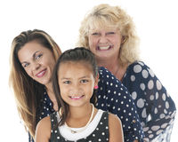 Close-up of Three Generations Royalty Free Stock Photography