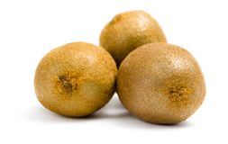 Close up of three kiwis Royalty Free Stock Image