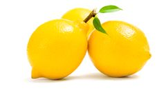 Close up of three lemons Royalty Free Stock Image