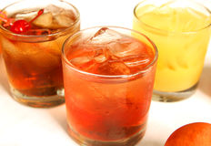 Close Up Three Mixed Drinks Stock Images
