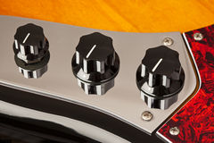 Guitar Control Knobs Royalty Free Stock Photography
