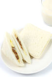 Close up three sandwich. On white background Stock Photo