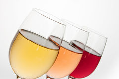 Close-up of three wineglasses Royalty Free Stock Image