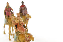 Close-up of the three wise men. On a white background Stock Images