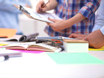 Close-up of three young creative designers working Stock Images