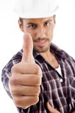 Close up of thumbs up Stock Photos