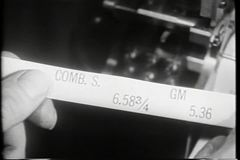 Close-up of ticker tape with stock prices stock video footage