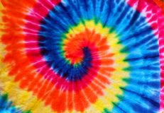 Close up tie dye fabric pattern background stock photos