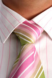 Close up of tie on neck Royalty Free Stock Image