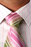 Close up of tie on neck Stock Photos