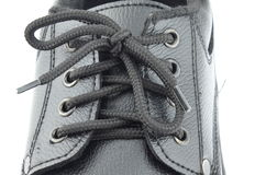 Close up tighten rope of new shoe Stock Photos