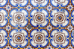Close up of a tile in Porto, stock images