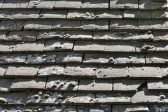 Close up of tiled roof Royalty Free Stock Photo