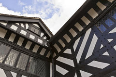 Close-up of timber frame work. Stock Images