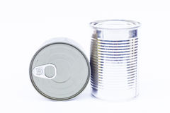 Close-up tin can isolated on white background Stock Images
