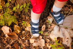 A close-up of tiny baby feet Stock Photos