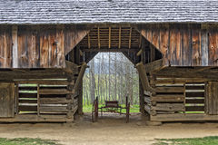 Close Up Of The Tipton Place Barn In Cades Cove Stock Image