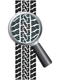 Close-up of tire Royalty Free Stock Images