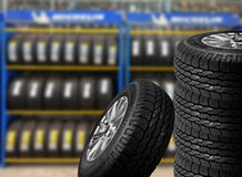Close up tires Stock Photography