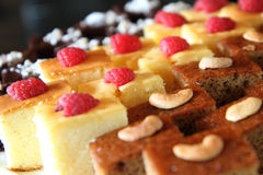 Close up to berry cake Stock Image