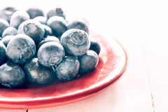 Close up to blueberries Royalty Free Stock Photos