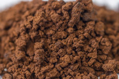 Close -up to brown granulate of instant coffee Stock Photo