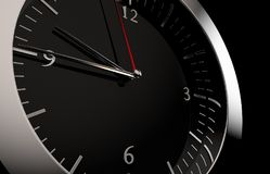 Close up to a clock. 3D rendering of a close up to a clock Royalty Free Stock Photos