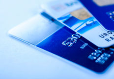 Close up to credit cards Stock Photo
