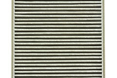 Close up to a deteriorate of car air filter Stock Photography
