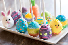 Close up to Easter cup cakes Stock Photos