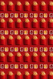 Close Up to French Fries, High Calorie Junk Food, Background Royalty Free Stock Photography